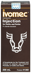 Ivomec, a pour on dewormer with broad spectrum of protection, efficacy and duration.